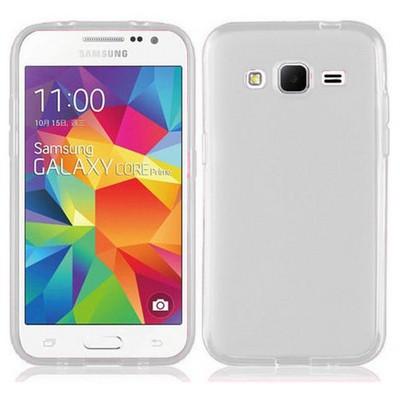 Microsonic Transparent Soft Samsung Galaxy Core Prime Kılıf Beyaz Cep Telefonu Kılıfı