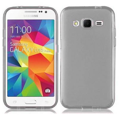 Microsonic Transparent Soft Samsung Galaxy Core Prime Kılıf Siyah Cep Telefonu Kılıfı