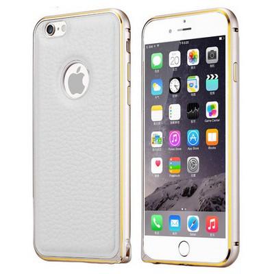 Microsonic Derili Metal Delüx Iphone 6 (4.7'') Kılıf Beyaz Cep Telefonu Kılıfı