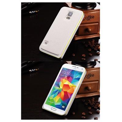 Microsonic Derili Metal Delüx Samsung Galaxy S5 Kılıf Beyaz Cep Telefonu Kılıfı