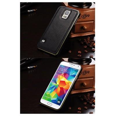 Microsonic Derili Metal Delüx Samsung Galaxy S5 Kılıf Siyah Cep Telefonu Kılıfı