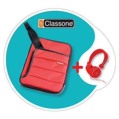"""Classone Tbl-u102 Classone Colorful Serisi Tabşet Case 7-10,1 """" Uyumlu (kırmızı) + Ku Tablet Kılıfı"""