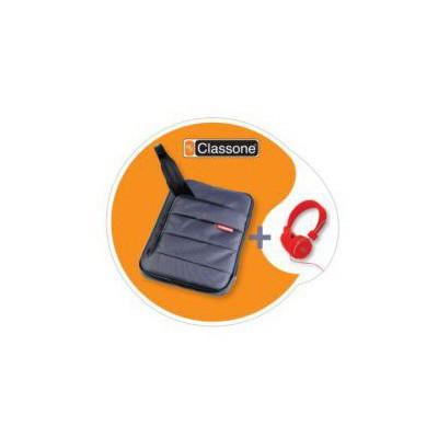 """Mila Tbl-u104 Classone Colorful Serisi Tabşet Case 7-10,1 """" Uyumlu (gri) + Mila Kulakl Tablet Kılıfı"""