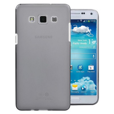 Microsonic Transparent Soft Samsung Galaxy E7 Kılıf Siyah Cep Telefonu Kılıfı