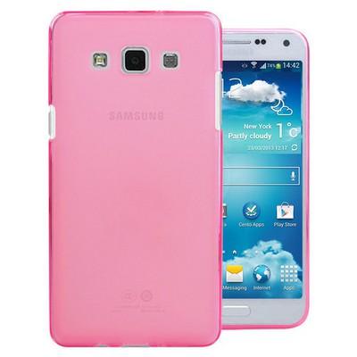 Microsonic Transparent Soft Samsung Galaxy E5 Kılıf Pembe Cep Telefonu Kılıfı