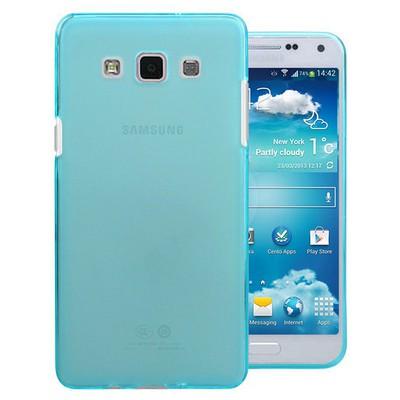 Microsonic Transparent Soft Samsung Galaxy E5 Kılıf Mavi Cep Telefonu Kılıfı