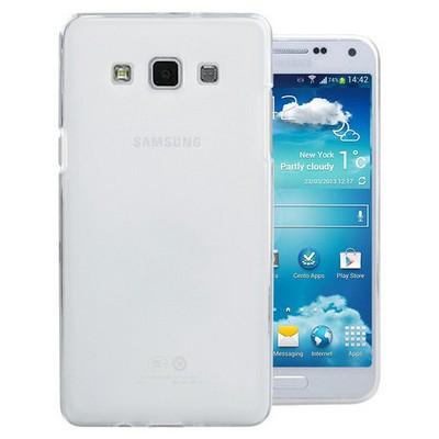 Microsonic Transparent Soft Samsung Galaxy E5 Kılıf Beyaz Cep Telefonu Kılıfı