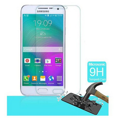 Microsonic Temperli Cam Ekran Koruyucu Samsung Galaxy E7 Film Ekran Koruyucu Film