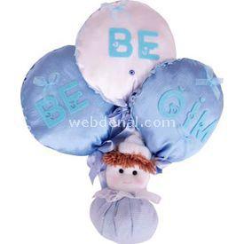 Handan Balonlu Bebek Mavi Kapı Süsü