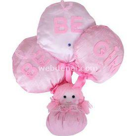 Handan Balonlu Bebek Pembe Kapı Süsü