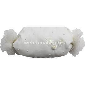 Handan Bebek Altın Takı Yastığı Krem-şeker Kelebekli Yastıklar