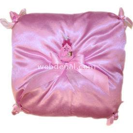 Handan Bebek Altın Takı Yastığı Pembe Kare Yastıklar