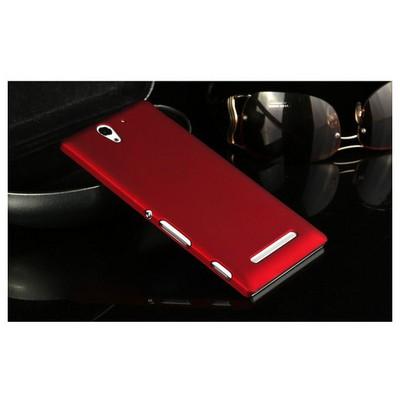 Microsonic Premium Slim Sony Xperia C3 Kılıf Kırmızı Cep Telefonu Kılıfı