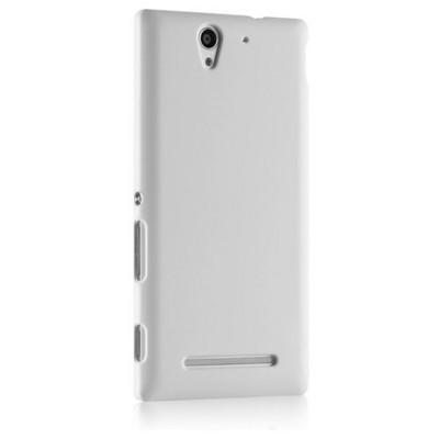 Microsonic Premium Slim Sony Xperia C3 Kılıf Beyaz Cep Telefonu Kılıfı