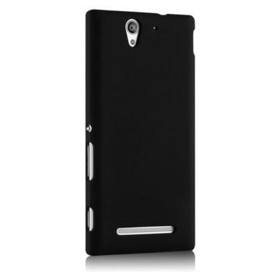 Microsonic Premium Slim Sony Xperia C3 Kılıf Siyah Cep Telefonu Kılıfı