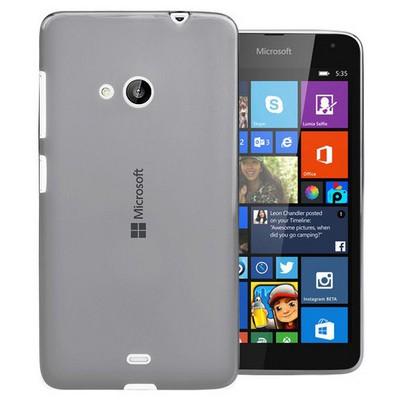 Microsonic Transparent Soft Microsoft Lumia 535 Kılıf Siyah Cep Telefonu Kılıfı