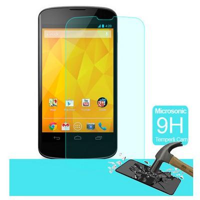 Microsonic Temperli Cam Ekran Koruyucu Lg Nexus 4 Film Ekran Koruyucu Film