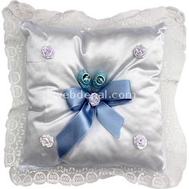 Handan Takı Yastığı Mavi-fiyonk Süs & Takı Yastığı