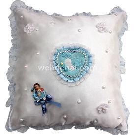 Handan Takı Yastığı Mavi-inci Süs & Takı Yastığı