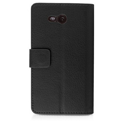 Microsonic Cüzdanlı Deri Nokia Lumia 820 Kılıf Siyah Cep Telefonu Kılıfı
