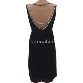 Entarim Abiye Hamile Elbise Siyah 44 Elbise, Tulum, Etek