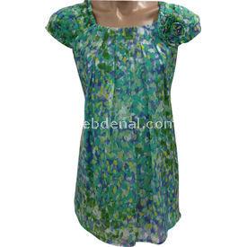 Entarim Hamile Şifon Bluz Yeşil 44 Gömlek, Bluz, Tunik