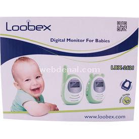 Loobex Dijital Bebek Telsizi Titreşimli Yeşil Bebek Güvenliği