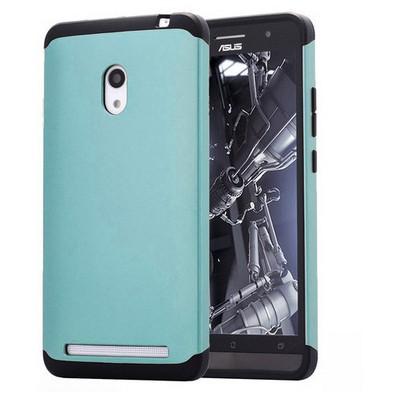 Microsonic Slim Fit Dual Layer Armor Asus Zenfone 6 Kılıf Mavi Cep Telefonu Kılıfı