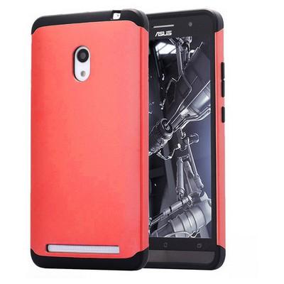 Microsonic Slim Fit Dual Layer Armor Asus Zenfone 6 Kılıf Kırmızı Cep Telefonu Kılıfı