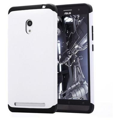 Microsonic Slim Fit Dual Layer Armor Asus Zenfone 6 Kılıf Beyaz Cep Telefonu Kılıfı