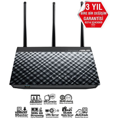 Asus Rt-n18u N600 Wı-fı 3g 4g D.b.router Menzil Genişletici