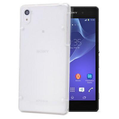 Microsonic Hybrid Transparant Sony Xperia Z2 Kılıf Beyaz Cep Telefonu Kılıfı