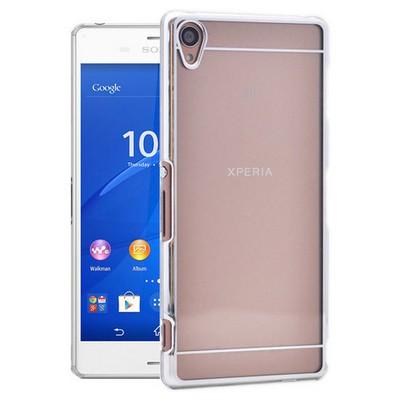 Microsonic Metalik Transparent Sony Xperia Z3 Kılıf Gümüş Cep Telefonu Kılıfı