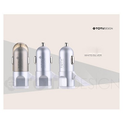 Microsonic Totu Design Breakneck Usb Araç Çakmaklık Şarj Cihazı & 2li Micro Usb Ve 8pin Lightning Kablo Silver Şarj Cihazları