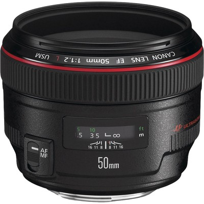 Canon EF 50mm f/1.2L USM SLR Siyah Lens