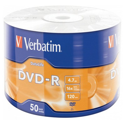 Verbatim Dvd-r 43791 50 Wrap Matt Silver 16x 4.7gb CD/DVD