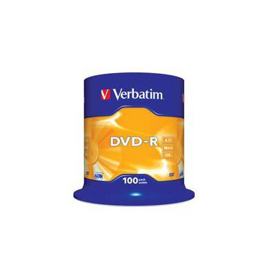 Verbatim 43549 Dvd-r 100 Spindle Matt Silver 16x 4.7gb CD/DVD