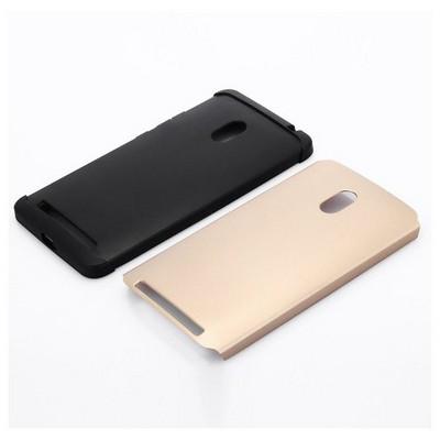 Microsonic Slim Fit Dual Layer Armor Asus Zenfone 6 Kılıf Gold Sarı Cep Telefonu Kılıfı