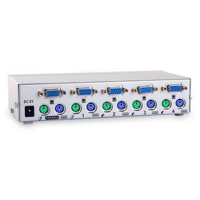 S-Link Sl-2041 Kvm 4 Portlu Ps2 1.8m M/m Otomatik KVM Switch