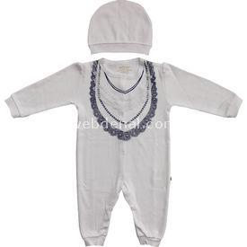 Aziz Bebe 6282  Beyaz 3-6 Ay (62-68 Cm) Bebek Tulumu