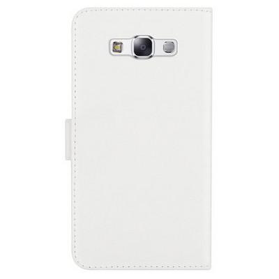 Microsonic Cüzdanlı Deri Samsung Galaxy A7 Kılıf Beyaz Cep Telefonu Kılıfı