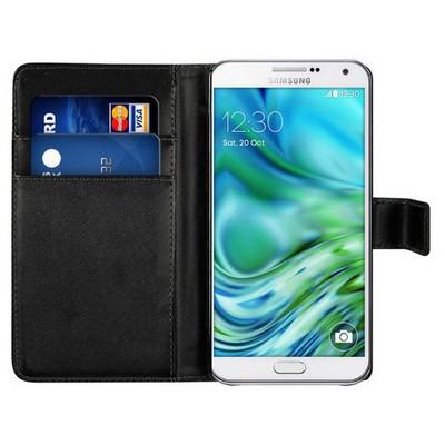 Microsonic Cüzdanlı Deri Samsung Galaxy A7 Kılıf Siyah Cep Telefonu Kılıfı