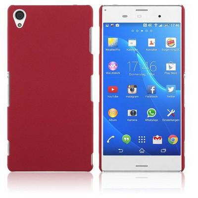 Microsonic Premium Slim Sony Xperia Z3 Kılıf Kırmızı Cep Telefonu Kılıfı