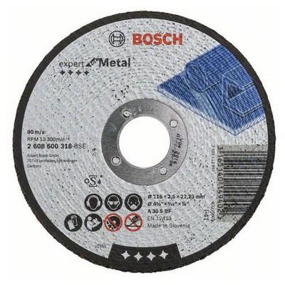 Bosch 115*2,5 mm Expert for Metal Düz Makine Aksesuarı