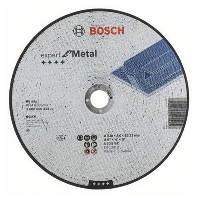 Bosch 230*3,0 mm Expert for Metal Düz
