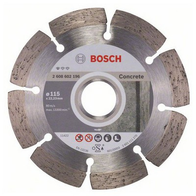 Bosch Standard for CONCRETE 115 mm Elmas Kesme Diski - 2608602196