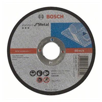 Bosch Standard Seri Metal İçin Düz Kesme Diski (Taş) - A 30 S Bf, 115 Mm, 22,23 Mm, 2,5 Mm Makine Aksesuarı