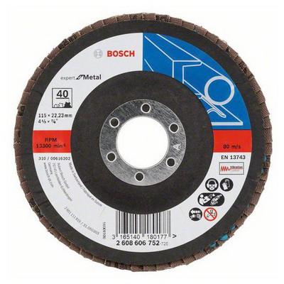 Bosch 115 mm 40 K Expert for Metal Flap Disk Aşındırıcı Disk - 260