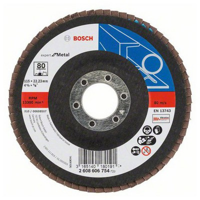 Bosch 115 mm 80 K Expert for Metal Flap Disk Aşındırıcı Disk - 260