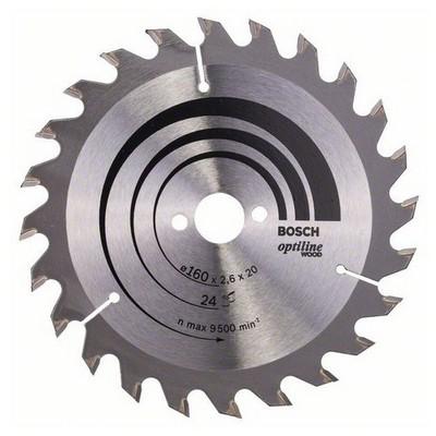 Bosch Optiline Wood 160*20/16 mm 24 Diş Daire Testere Bıçağı - 260
